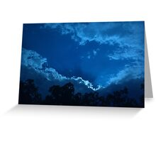 Blue Clouds with the Trees Greeting Card