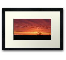 Blazing Plains Framed Print