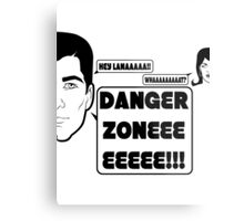 Dangah Zone BLK Metal Print