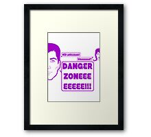 Dangah Zone PURPLE Framed Print