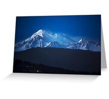 Mount Baker at Night Greeting Card