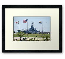 Battleship U.S.S. Alabama..... Framed Print