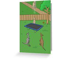 Kangaroo Trampoline Bounce Greeting Card