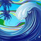 Sea Ocean big Wave-Water  by BluedarkArt