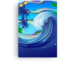 Sea Ocean big Wave Water  Canvas Print