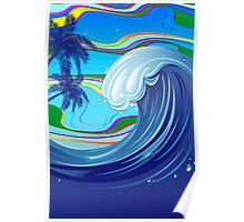 Sea Ocean big Wave Water  Poster
