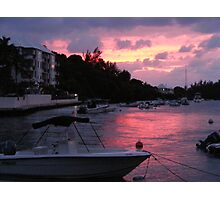 Bermuda - Sunset on the water Photographic Print