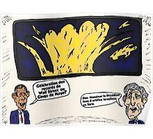 Obama Kerry Caricature d'Affaires du Cinqo de Mayo Poster