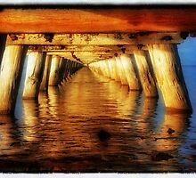 Under The Jetty all a Glow by Rob Kelly