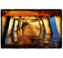 Under The Jetty all a Glow Photographic Print