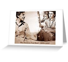The American Dust Bowl Montage Greeting Card