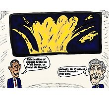 Israel in Syria Kerry Obama Political Cartoon Photographic Print