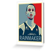 Stephen Curry - Rainmaker Greeting Card