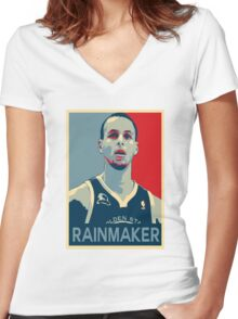Stephen Curry - Rainmaker Women's Fitted V-Neck T-Shirt