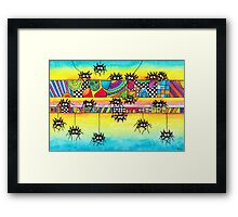 Spiders and Patterns Framed Print