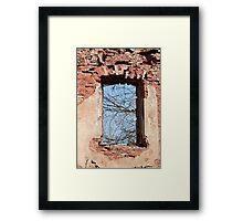 window aperture Framed Print
