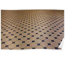tiled floor Poster