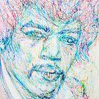 JIMI HENDRIX - portrait by lautir
