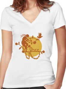 Steampunk Fairytale Women's Fitted V-Neck T-Shirt