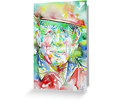 PABLO PICASSO - watercolor portrait.2 Greeting Card