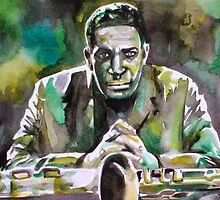 JOHN COLTRANE - watercolor portrait by lautir