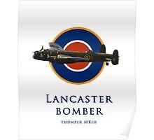 Lancaster bomber logo Poster