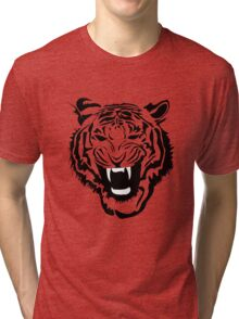 Angry Tiger  Tri-blend T-Shirt