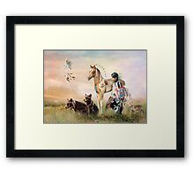 Little Warriors Framed Print