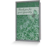Thank you for your sympathy, butterfly illustration. Greeting Card