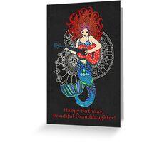 Happy Birthday, Beautiful Granddaughter! Greeting Card