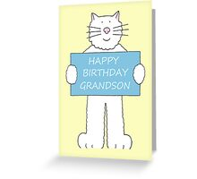 Happy Birthday Grandson. Greeting Card