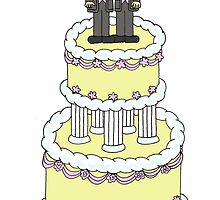Two grooms on a cake, civil union. by KateTaylor