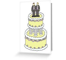 Two grooms on a cake, civil union. Greeting Card