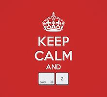 Keep Calm and cmd Z by RobinBeertje