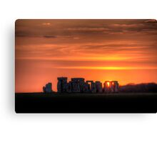 Stonehenge Sunset Canvas Print