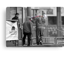 Down but not out! Metal Print