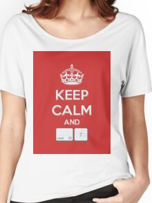 Keep Calm and cmd Z Women's Relaxed Fit T-Shirt