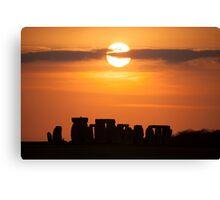 Stonehenge Sunset Canvas Print
