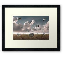 Television falling Framed Print