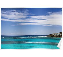 Blue Sky over a Blue Caribbean Sea Poster
