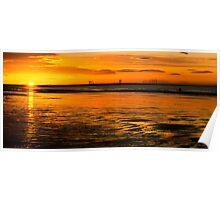 Saltburn sunsets,  Poster
