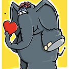 The elephant is in love by chrisbears