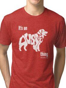 Aussome-- New Spirit 4 Aussie Rescue Tri-blend T-Shirt