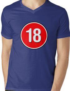 Rated 18 Mens V-Neck T-Shirt
