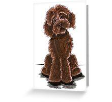 Chocolate Labradoodle Greeting Card