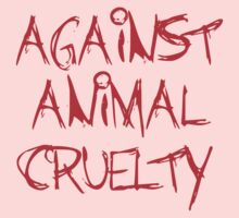 Against Animal Cruelty Kids Clothes