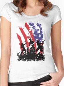 America Rocks Women's Fitted Scoop T-Shirt