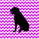 Perfectly Pink Chevron With Labrador Retriever by pjwuebker