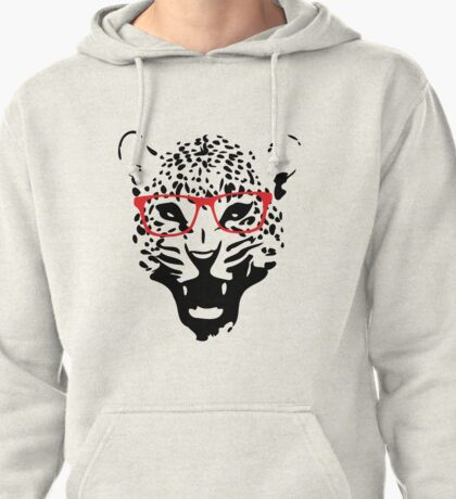 Nerdy Leopard Pullover Hoodie