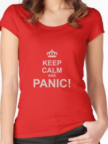 Keep Calm and Panic Women's Fitted Scoop T-Shirt